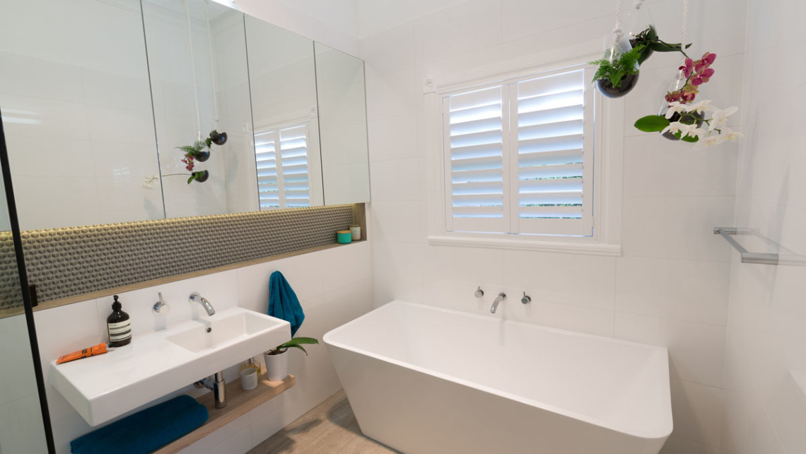 Electrical installations for award winning renovated for Award winning bathroom designs 2015